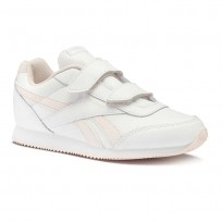 Reebok Royal Classic Jogger Shoes Boys White/Pink CN4621