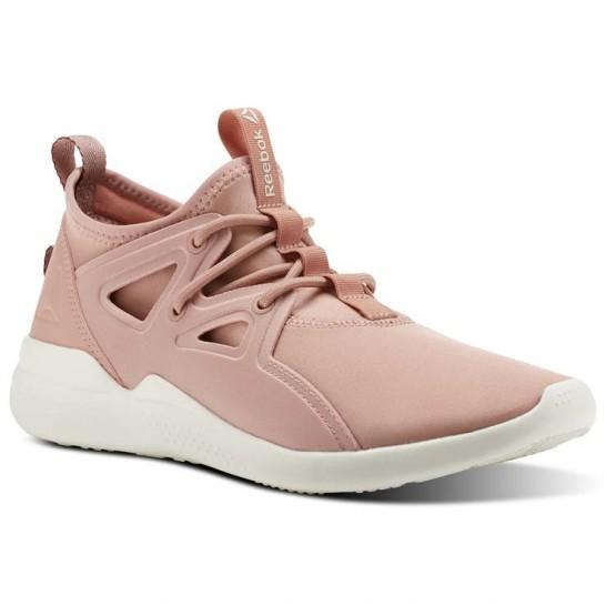 Reebok Cardio Motion Studio Shoes Womens Pink/Burgundy CN0732