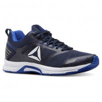 Reebok Ahary Runner Running Shoes Mens White/Blue/Navy CN5341