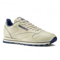Reebok Classic Leather Shoes Mens Navy 28412