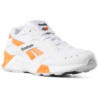 Reebok Aztrek Shoes Mens White/Black/Orange CN7472