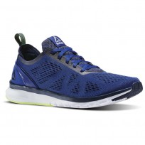 Reebok Print Smooth Running Shoes Mens Navy/White BS5132