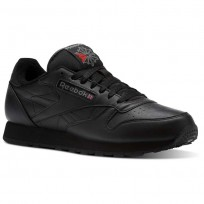 Zapatillas Reebok Classic Leather Hombre Negras/Gris Oscuro/Rojas CM9671