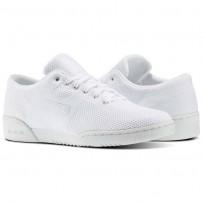 Reebok Workout Clean Shoes Mens White/Grey BS9108