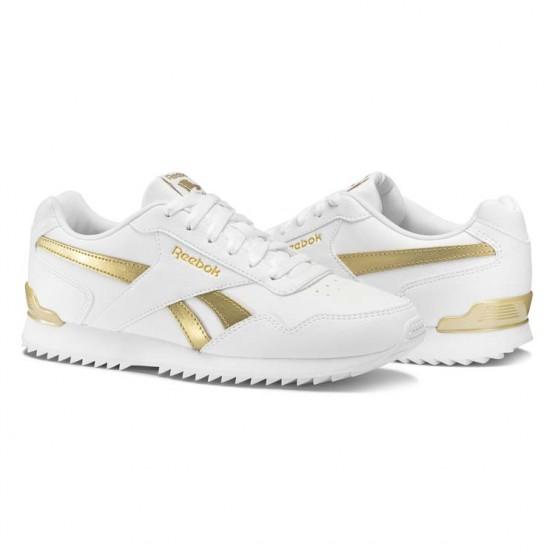 Reebok Royal Glide Schuhe Damen Weiß/Gold BS5818