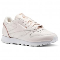 Reebok Classic Leather Shoes Womens Pink/Rose Gold/White BS9880