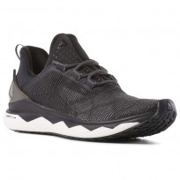 Reebok Floatride Run Smooth Running Shoes Womens Black/White/Grey CN6310