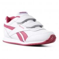 Zapatillas Reebok Royal Classic Jogger Niña Blancas/Rosas CN4937