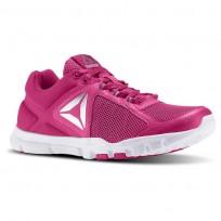 Reebok Yourflex Trainette Training Shoes Womens Pink/White/Metallic Silver BD5550