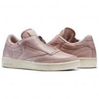 Reebok Club C 85 Shoes Womens Pink/White/Silver BS6606