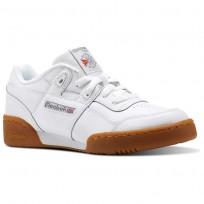 Reebok Workout Plus Shoes Kids White/Dark Grey/Red/Royal CN2243