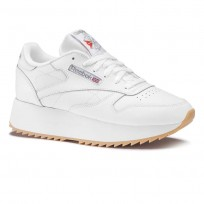 Chaussure Reebok Classic Leather Femme Blanche/Argent DV6472