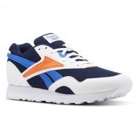 Zapatillas Reebok Rapide Mu Hombre Blancas/Azul Marino/Azules/Naranjas Claro CN5907