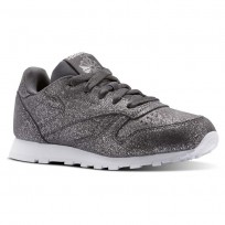 Shoes Reebok Classic Leather Girls Grey/White CN5588