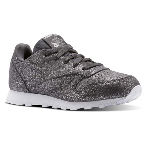 Reebok Classic Leather Shoes Girls Grey/White CN5588