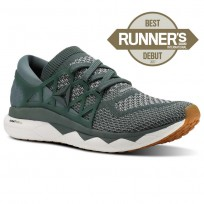 Reebok Floatride Run Running Shoes Mens Green/Grey/White CN2582