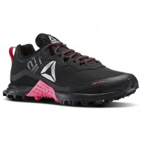 Reebok All Terrain Running Shoes Womens Black/Pink/Silver BS8650