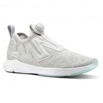 Reebok Pump Supreme Running Shoes Mens Grey/White/Blue CN2937