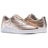 Reebok Club C 85 Shoes Womens Gold/White BS7899