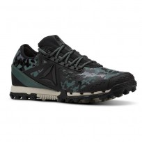 Reebok At Super 3.0 Running Shoes Womens Black Camo/Green CN6125