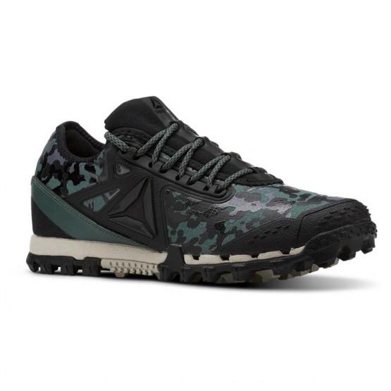 Reebok At Super 3.0 Running Shoes Womens Black Camo/Green CN6125