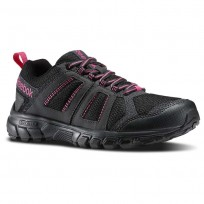 Reebok Dmx Ride Comfort Rs 3.0 Outdoor Shoes Womens Black/Deep Grey/Pink M45552
