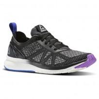 Running Shoes Reebok Print Smooth Womens Black/Purple/Blue BS5137