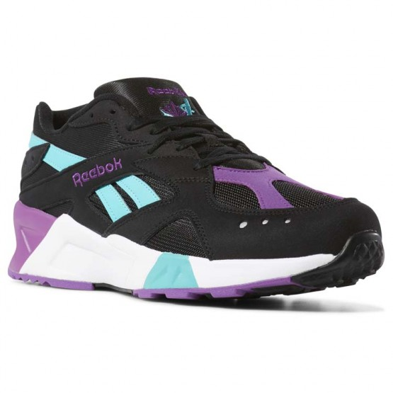 Shoes Reebok Aztrek Mens Black/Turquoise/White/Grey DV3943