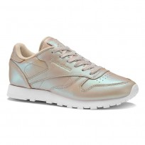 Reebok Classic Leather Shoes Womens Beige/White BD4309