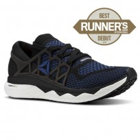 Reebok Floatride Run Running Shoes Mens Black/Blue/White CN6049