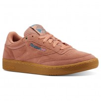 Reebok Club C 85 Shoes Mens Apricot/Turquoise CN3865