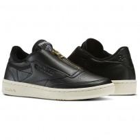 Reebok Club C 85 Shoes Womens Black/White BS6608