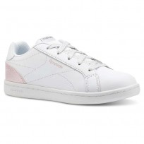 Reebok Royal Complete Shoes Girls White/Pink/Silver CN5071