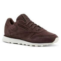 Reebok Classic Leather Shoes Womens Dark Brown CN5485