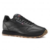 Reebok Classic Leather Shoes Mens Black 49800