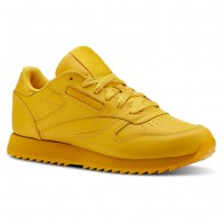 Reebok Classic Leather Shoes Womens Gold CN5123