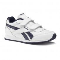 Zapatillas Reebok Royal Classic Jogger Niños Blancas/Azul Marino CN4934