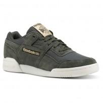Reebok Workout Plus Shoes Mens Dark Green CN5482