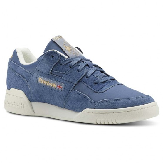 Reebok Workout Lo Shoes Womens Blue CN3834