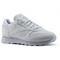 Reebok Classic Leather Schuhe Damen Grau CM8767