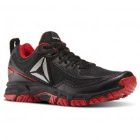 Walking Shoes Reebok Ridgerider Trail 2.0 Mens Black/Red/Silver BD2246