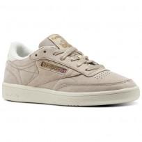 Shoes Reebok Club C 85 Womens Beige CN1295