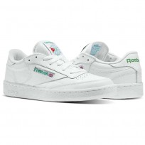 Reebok Club C 85 Shoes Mens White/Green AR0456